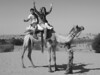 garrett and i riding a camel.  osian, rajasthan