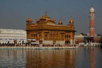 The Golden Temple in Amritsar. Spectacular by day...