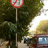 Traffic sign in Delhi