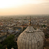The domes and minarets of the Jama Masjid rise over the sprawling chaos of Old Delhi