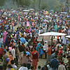 A festival on the town square in Chamba, Himachal Pradesh. This panorama is made of several images stitched together.