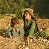 Gujjar kids playing in an empty field