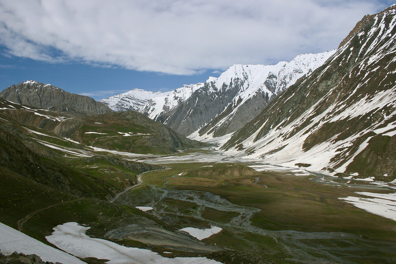We pitched camp in the bottom of this valley after a gruelling day cycling over the Zoji La from Sonamarg