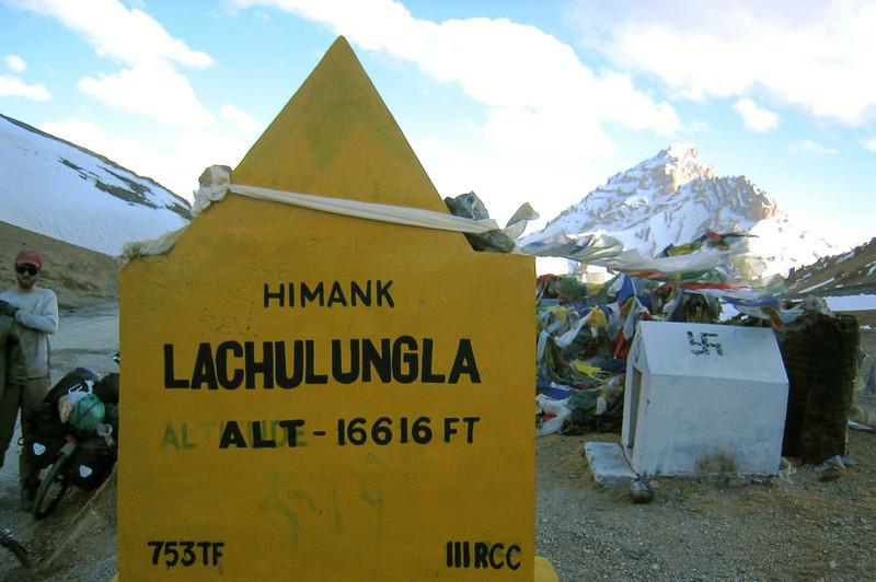 Photo courtesy of Gabe McGann. The summit of the Lachalung La, Ladakh, India.