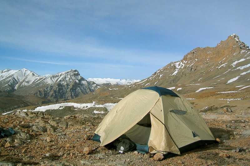 Photo courtesy of Gabe McGann. We camped on the top of a pass with spectacular views of mountains in all directions. It was pretty windy, but I think it was one of the more amazing places I've ever camped in my life. (This picture doesn't do it justice!)