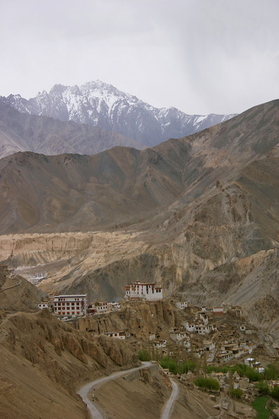 The dramatic Lamayuru monastery in Ladakh, India, perched on the edge of a cliff. We spent our fifth night in a small guest house near the monastery.