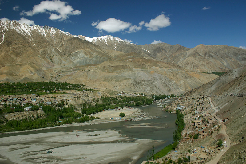 The town of Kargil in Ladakh, India