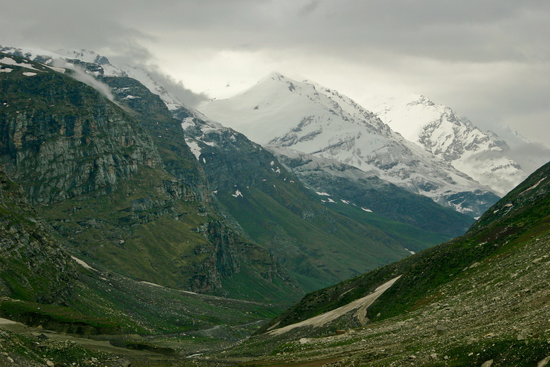 As we entered the district of Lahaul in Himachal Pradesh the scenery became a refreshing green once again