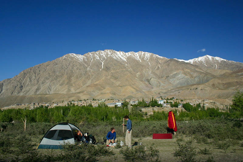 Camping outside of Kargil. This was our third night on the road.