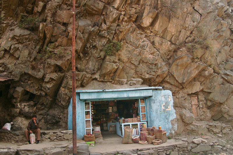 This little shop was built into a cave in the cliff!