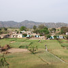 A typical village, surrounded by farmland, near Jammu