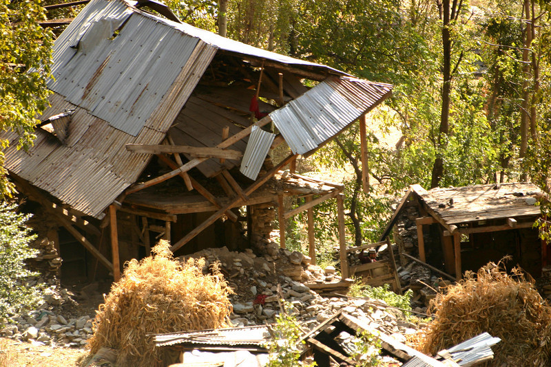 In Tangdhar destruction was everywhere. This picture was taken just a few days after the earthquake but some areas didn't receive relief for weeks.