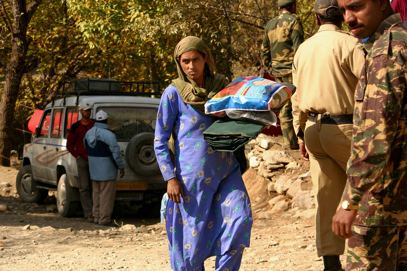 World Vision distributed tarps, blankets and clothing to people who lost their homes