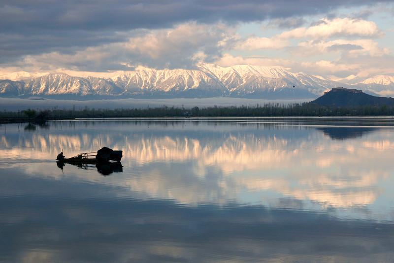 Dal Lake in the spring, Kashmir