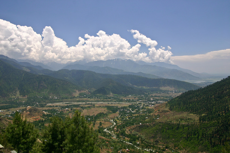 The mountains near Wular Lake, Kashmir
