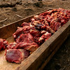 Meat ready for cooking at a wedding feast in Kashmir
