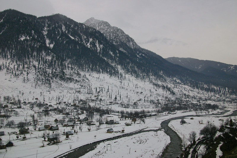 The Sindh Valley locked in winter snow, Kashmir