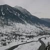 The Sindh Valley locked in winter snow, Kashmir