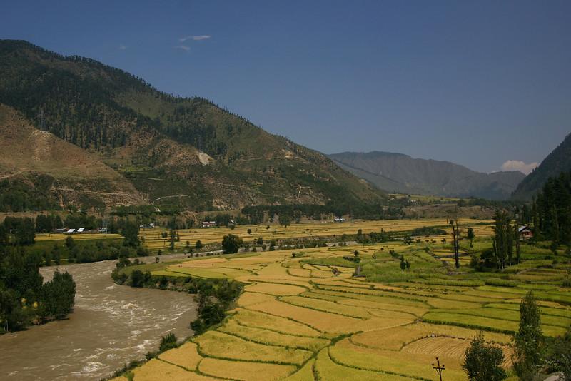 The Jhelum River in North Kashmir