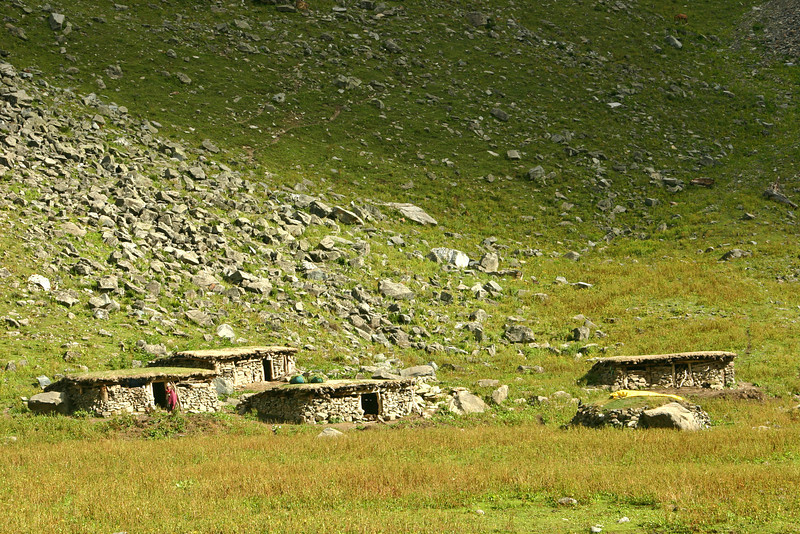Shepherd homes in the mountains of Kashmir