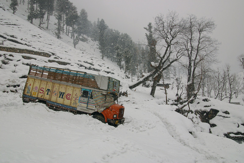 Looks like he'll be there a while! Stuck for the winter in Kashmir.