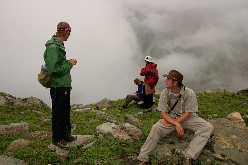 Trekking above the clouds