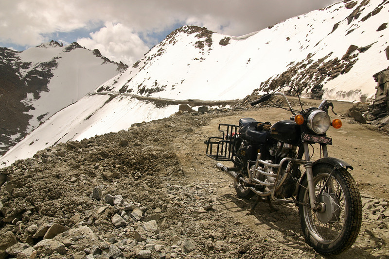"Descending the north side of the Khardung La, Ladakh. In the Ladakhi language ""la"" means pass, and ""Ladakh"" basically means ""Land of many passes."""