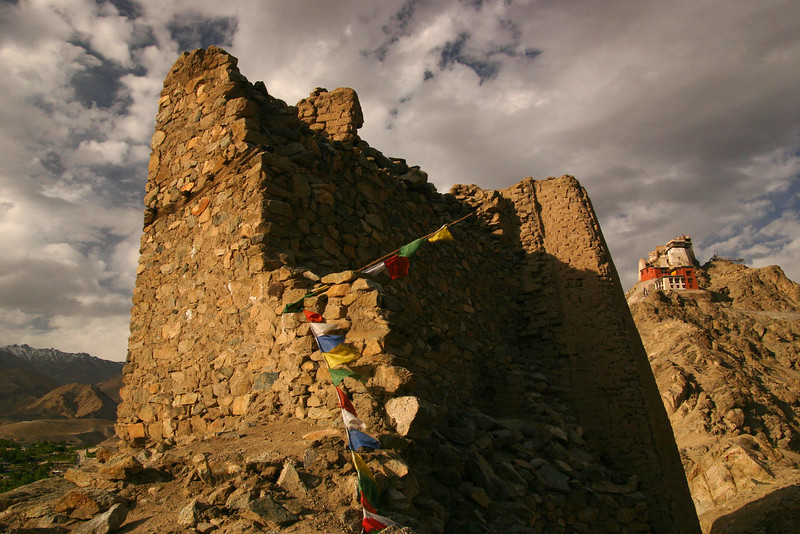 Ruins of an old fort in Leh, Ladakh