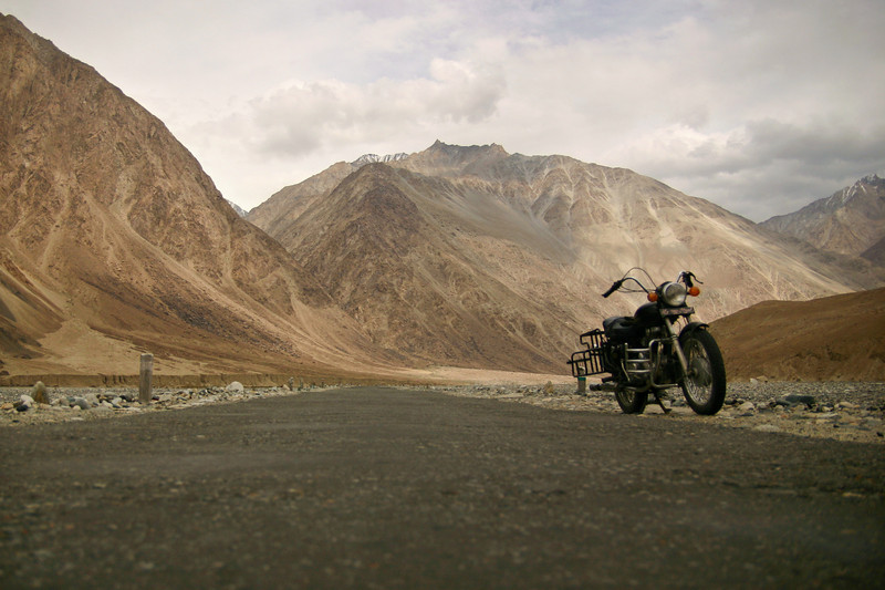 The Shyok valley in Ladakh, India is dry and barren - a high altitude desert at 10,000 feet