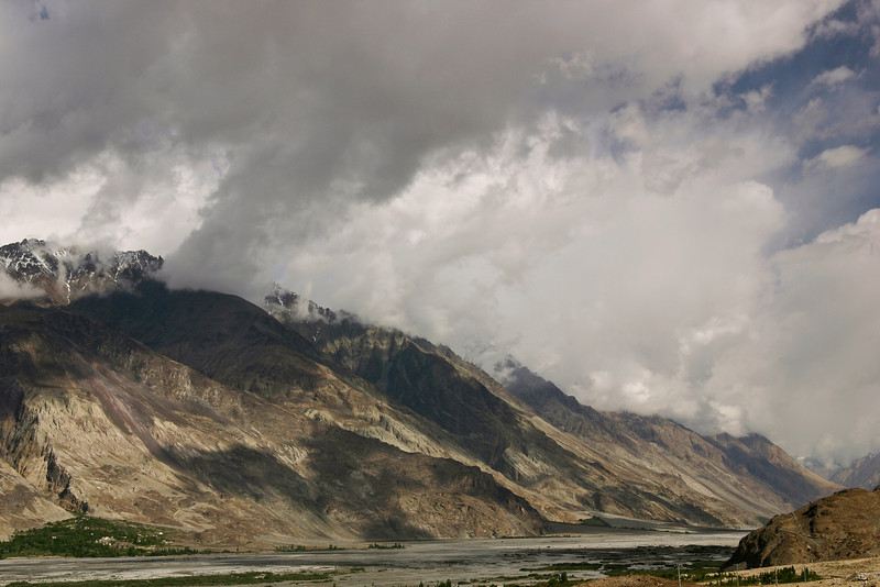 The beautiful Nubra Valley. Karakoram valleys such as these are noticeably steeper than Himalayan valleys a little to the south.