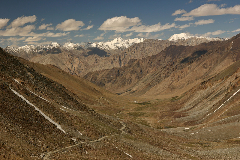 Looking north into the Karakoram mountains. You can see the highway in the foreground.