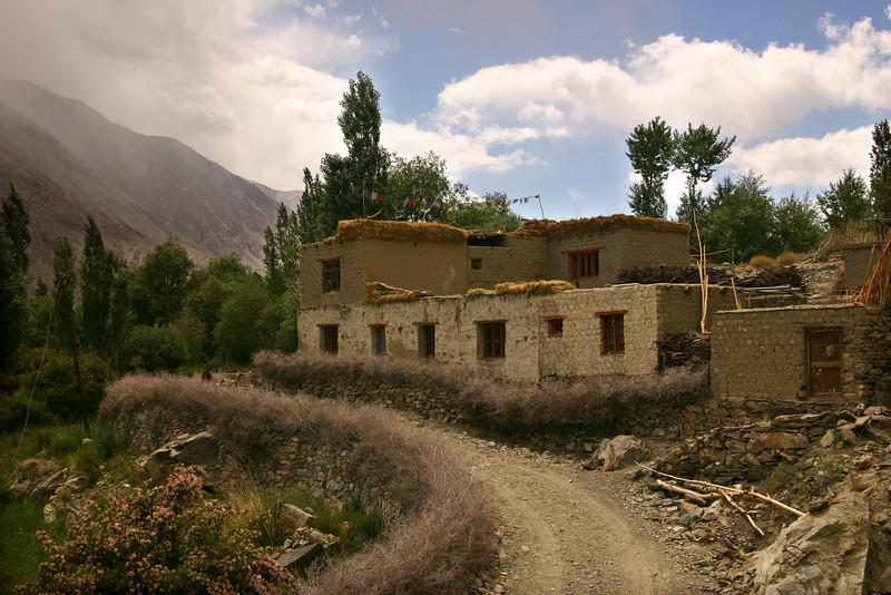 A Balti house in the Nubra Valley, Ladakh