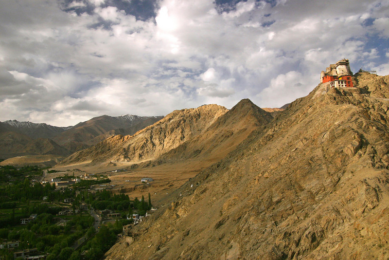 An ancient fort overlooking Leh, Ladakh