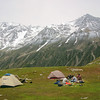 Camping high on a ridge near Kolahoi, Kashmir