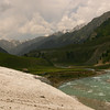 Leftover snow in June at 9000 feet in Sonamarg, Kashmir