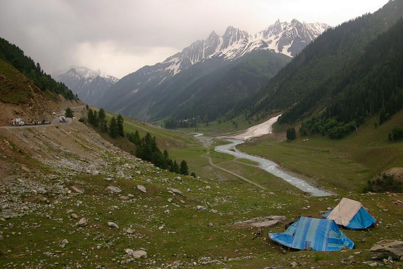 Bakarwal tents in Sonamarg, Kashmir