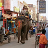A busy street in Saharanpur, Uttar Pradesh, India