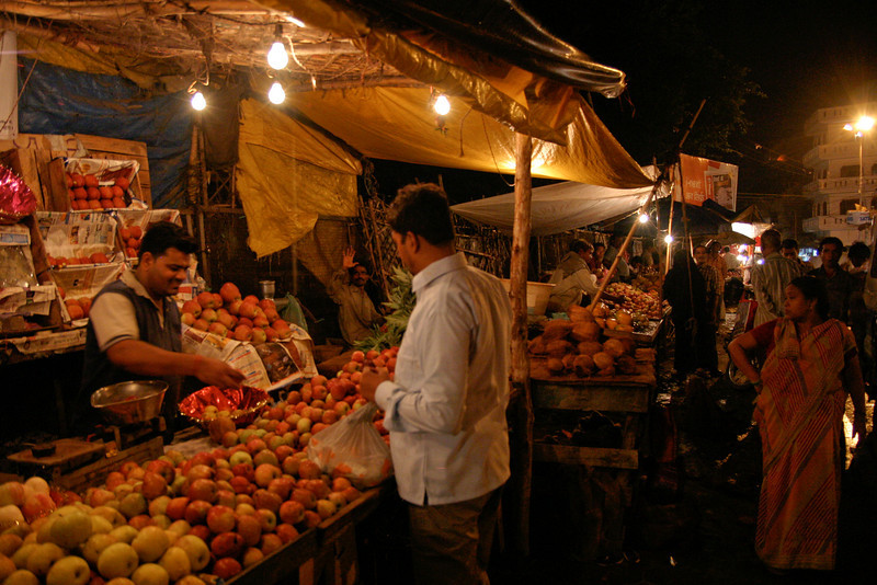 A fruit stall in a bazaar in the old city of Lucknow