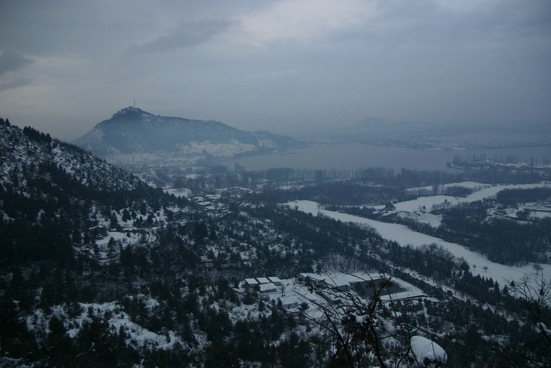 Srinagar in mid-winter, as seen from Pari Mahal