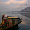 Even in winter, tourists in Kashmir can enjoy a ride on one of Dal Lake's famous shikaras