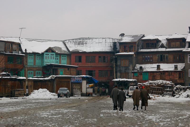 The old city of Srinagar in winter
