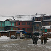 The old city of Srinagar in winter