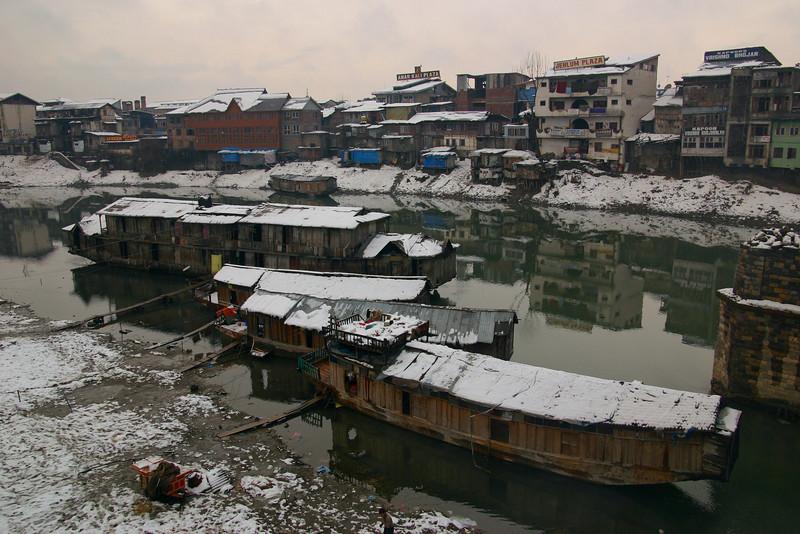 Houseboats on the Jhelum River, Srinagar