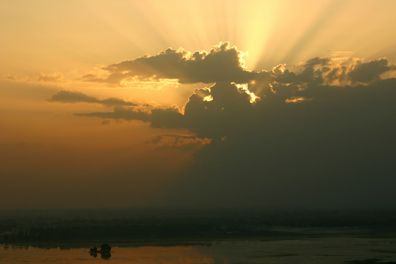 Sunset over Dal Lake, Kashmir