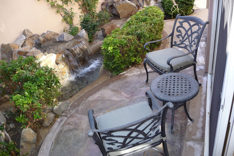 Private courtyard with fountain off of master bedroom