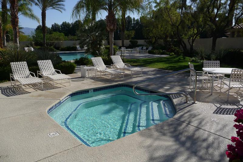 Spa at the adjacent community pool
