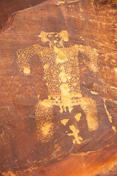 One of the thousands of Petroglyphs located at Rock Art Ranch near Winslow Arizona