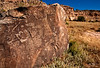 Ancient Hopi petroglyphs along the Verde River near Prescott Arizona