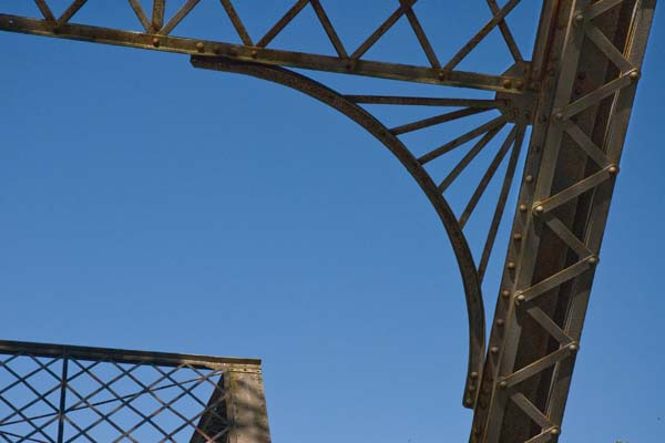 8/2010:  Detail of Butler iron bridge, Miami County.