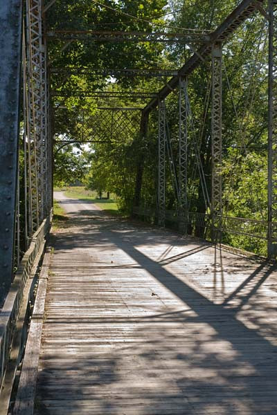 8/2010:  Butler iron bridge, Miami County.  Shadow/Highlight adjustment was applied on a duplicate layer.